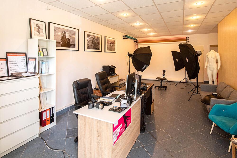 widok ogolny studio fotograficzne Justart-studio