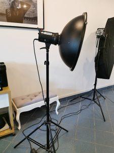 Lampa QuadraLite z beauty dish